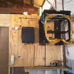 NATION ONE ...... COMPLETE CABLE CLEAN UP. WOOD, RACK, PANELS, SHELVES, CABLES.